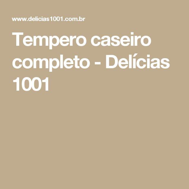 Tempero caseiro completo - Delícias 1001