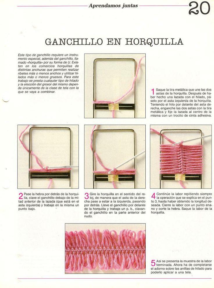 Tejido Facil: Paso a paso: Ganchillo en Horquilla