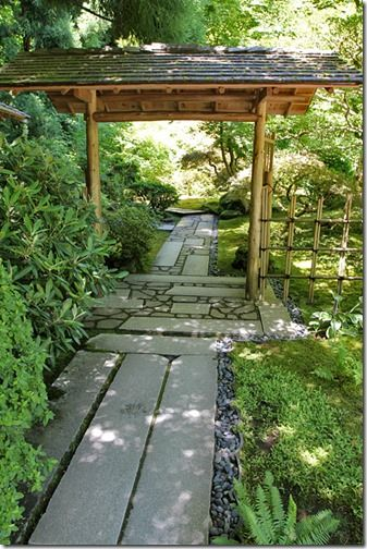 Gate between the inner and outer section of the Tea Garden