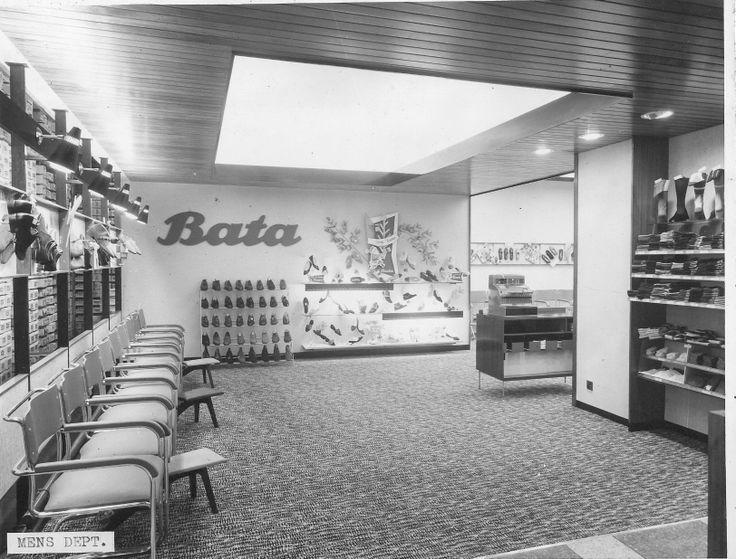 bata east tilbury interior mens dept shoe shop reconstructed Oct 1959