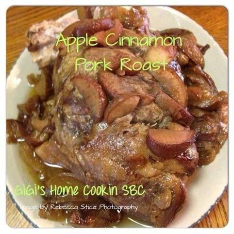 Apple Cinnamon #PorkRoast Ingredients Pork Roast or Pork Loin 6-8 apples slices 2 cups apple cider 1 cup beef stock Cinnamon to taste Add everything to slow cooker or a roaster and cook on low (300) for 6-8 hrs. So so good!!  ♥REMEMBER! SHARE OR COMMENT to save to your timeline for later!♥  For Healthy tips and inspiration. Friend and Follow me @ http://www.facebook.com/gillsky  Or you can join her closed support group www.facebook.com/groups/wanttogethealthy