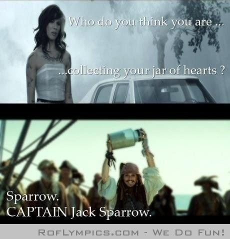 Jack Sparrow. CAPTAIN Jack Sparrow ;]Johnny Depp, Jars Of Heart, Funny Friday, Too Funny, Captainjack, Jack O'Connel, Johnnydepp, Christina Perry, Captain Jack Sparrows