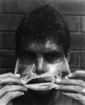 "Gordon Bennett: Australian Indigenous artist :detail ""Self portrait (Nuance II)"" (1994)"