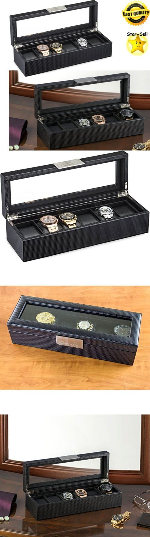 17 best ideas about watch display case watch box watch 168164 mens watch box holder luxury 6 slot watch display case storage organizer black