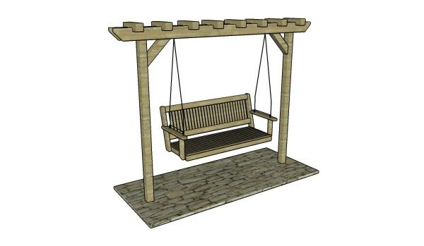 Swing stand plans free outdoor plans diy shed wooden for Lawn swing plans free