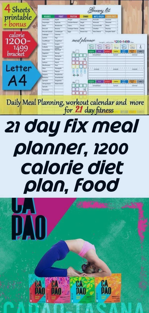 21 day fix meal planner, 1200 calorie diet plan, food