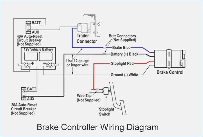 Wiring diagram for a tekonsha trailer brake controller
