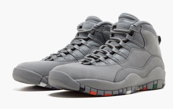 online retailer 35d96 9efc9 Mens Air Jordan Suede Cool Grey Retro 10 Size 11 Fruity ...