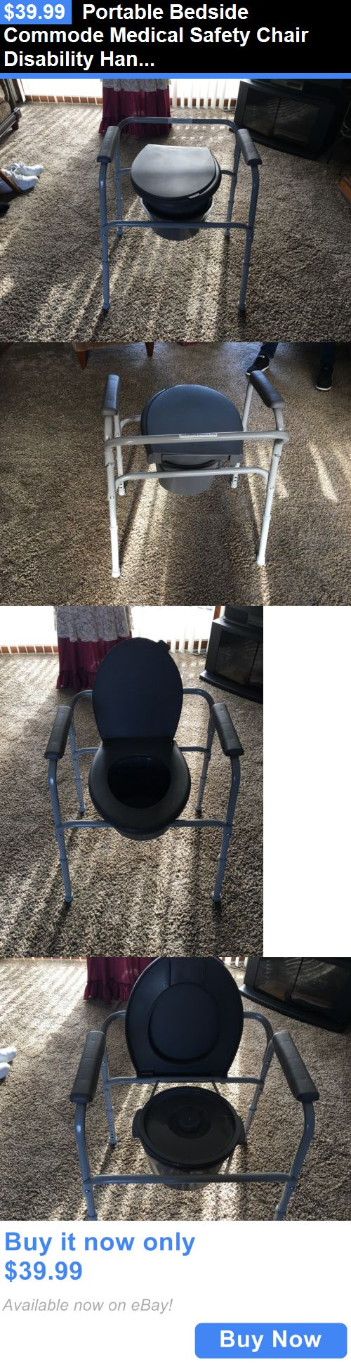 Portable commode folding bedside handicap adult toilet potty chair - Toilet Frames And Commodes Portable Bedside Commode Medical Safety Chair Disability Handicap Toilet Buy It