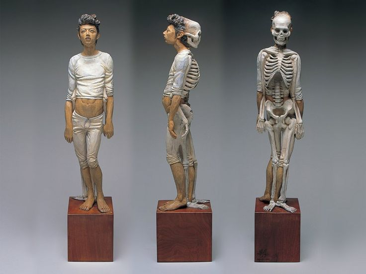 Sculpting Mortality: Deathly Wooden Sculptures by Yoshitoshi Kanemaki