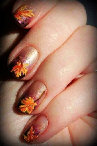 9 best 2015 nails images on pinterest art designs fall leaves latest fall nail art designs trends ideas for girls 2013 2014 12 latest fall nailart designs trends ideas for girls 2014 autumn leaves yellow orange on prinsesfo Image collections