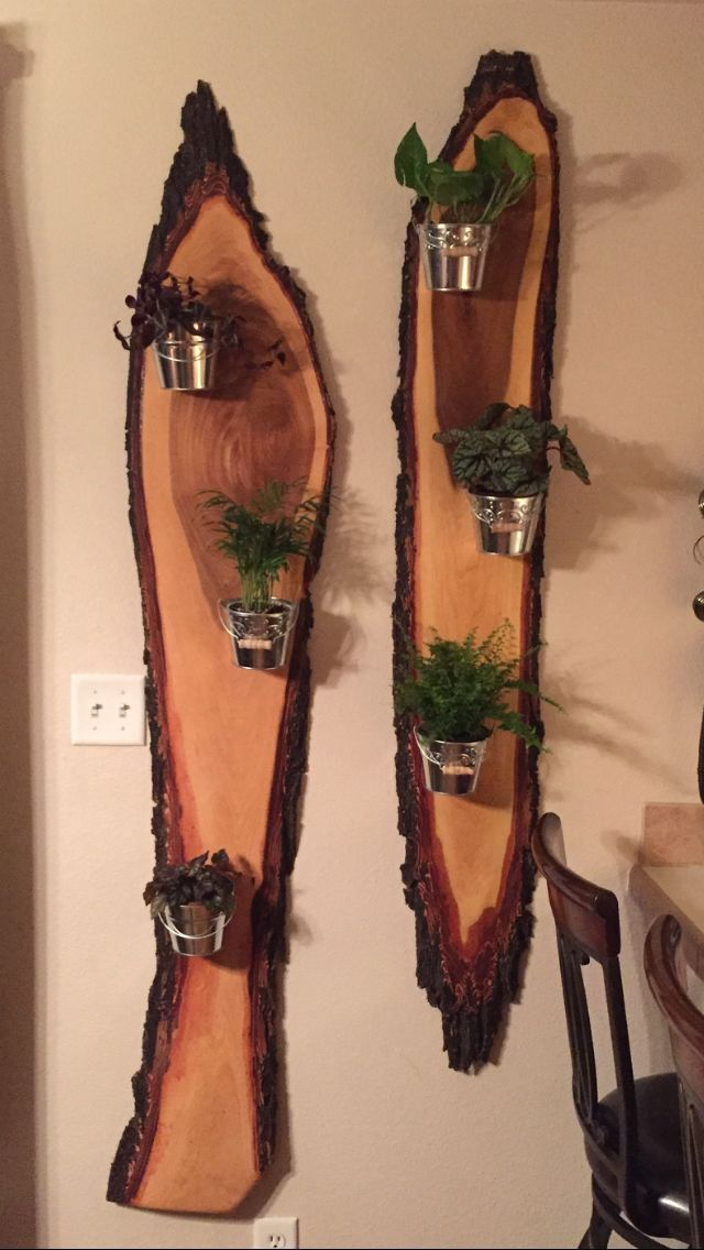 Kreative Nutzung von Rohholz und Pflanzen #WoodWorking