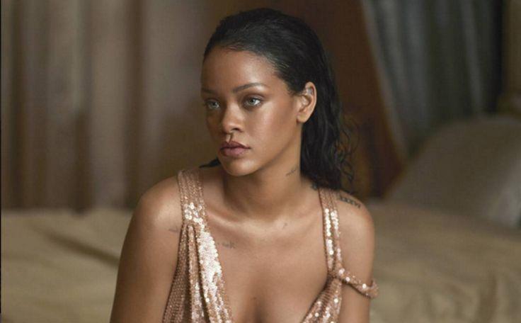 Wauw. Rihanna siert cover van Vogue Magazine in práchtige jurk van TOM FORD