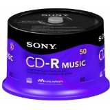 Sony 50CRM80RS 50 CR-R Music Recordable Discs Spindle (Electronics)By Sony