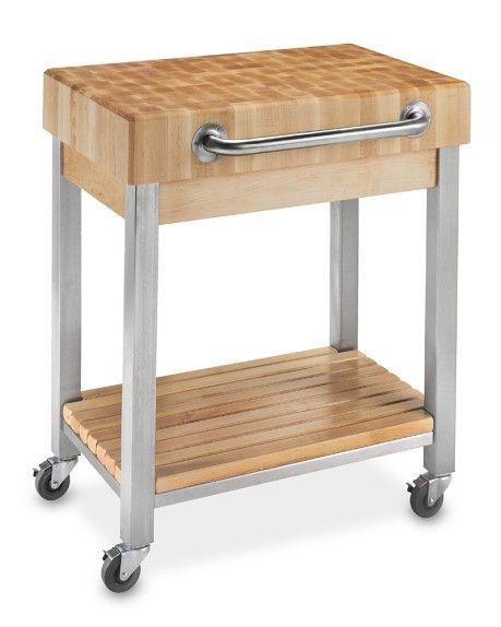 John Boos End-Grain Butcher Block Classic Kitchen Cart