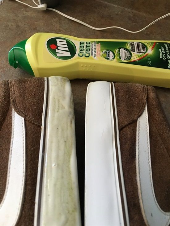 ****Keep White Parts Of Your Shoes Clean Use an anti-grease cleaner to keep white parts of your shoes white.