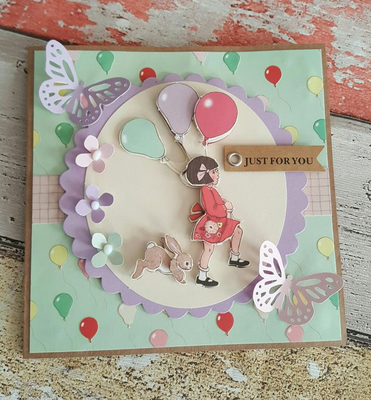 Belle and Boo decoupage card