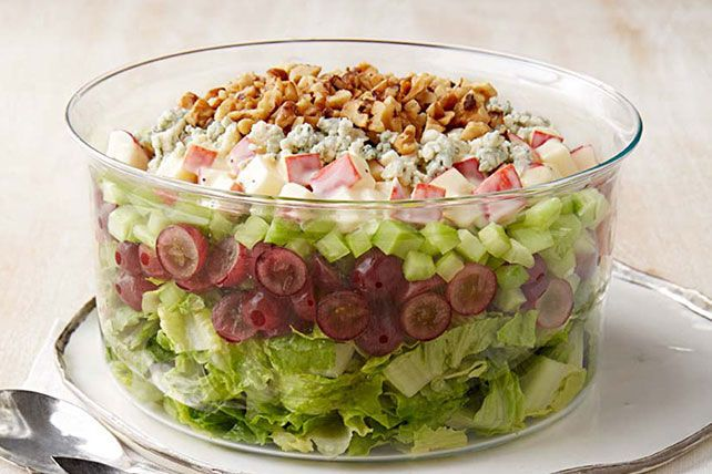 Get out the apples, celery and walnuts to make this layered version of the classic Waldorf salad. Serves 10—deliciously!