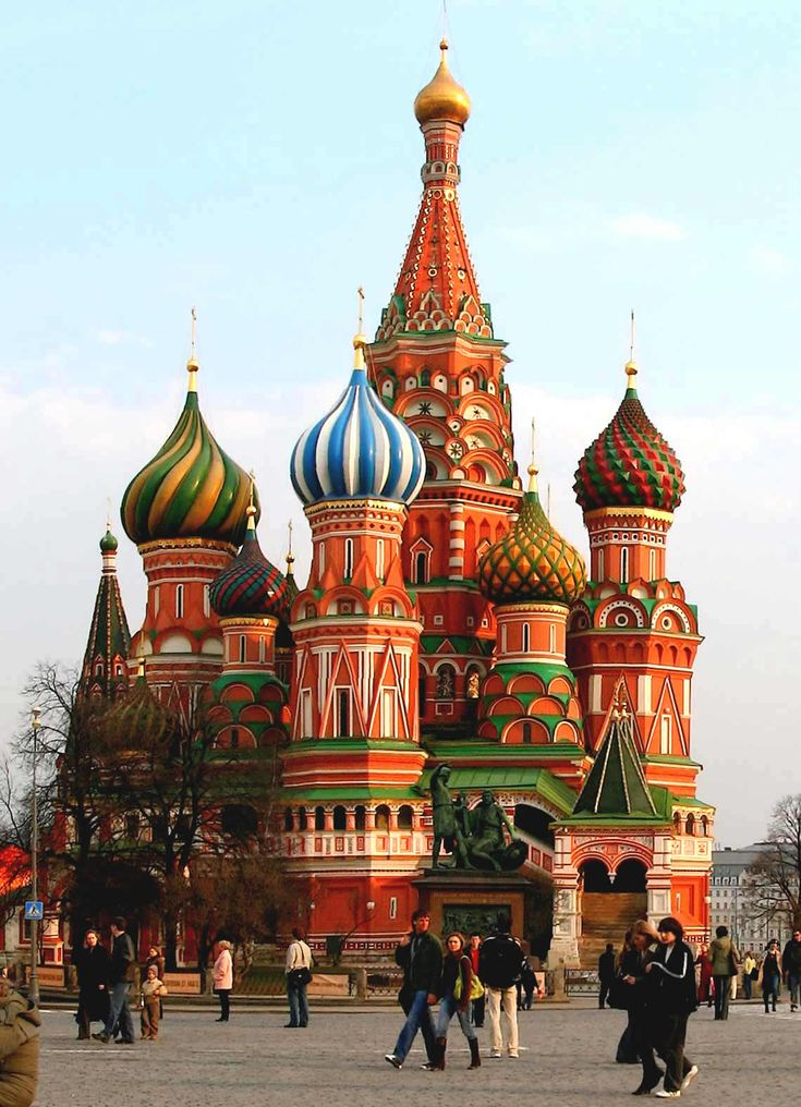 St Basil's Cathedral (1555-61) is a showcase of Renaissance Russian architecture. (Renaissance architecture is the architecture of the period between the early 15th and early 17th centuries in different regions of Europe, demonstrating a conscious revival and development of certain elements of ancient Greek and Roman thought and material culture).