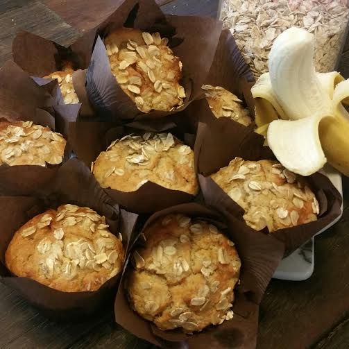 20 Second Banana Oat Muffins