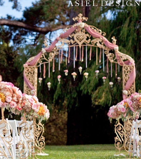 Glamorous Vintage Wedding Garden Ceremony Decorations Vintagegarden Vintageweddings Gardenweddings
