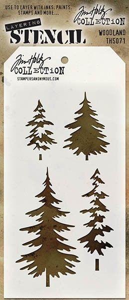Tim Holtz Layering Stencil Woodland Stencil THS071 2016 • CAD 6.88 - PicClick CA
