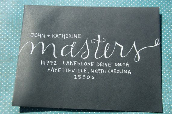 Custom Invitation Envelope Addressing by BirdiesNestBoutique, $1.50