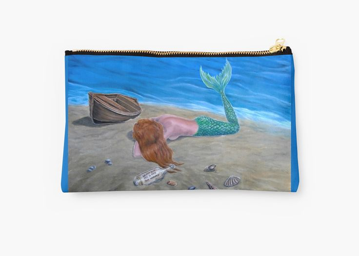 gifts, presents,  for sea, ocean, mermaids, lovers, aqua, blue, for sale, Studio Pouch