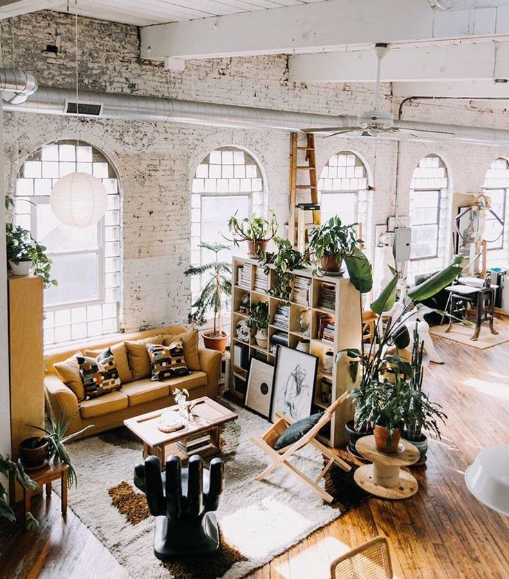 A Mix Of Mid Century Modern Bohemian And Industrial Interior Style Home And Ap Loft Apartment Decorating Scandinavian Style Home Industrial Interior Style