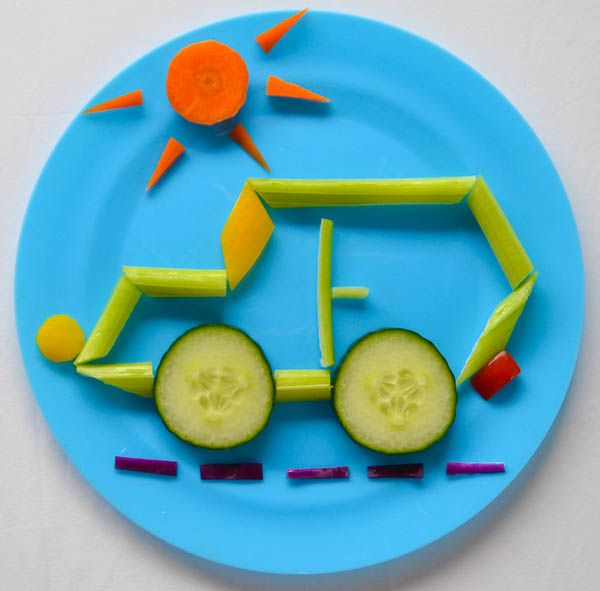 Fun food art Celery Car #kids mealtime #kidsmeals delicious meals #funmeals . See more inspirations at www.circu.net