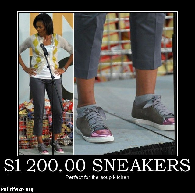 Michelle Obama Sneakers Soup Kitchen