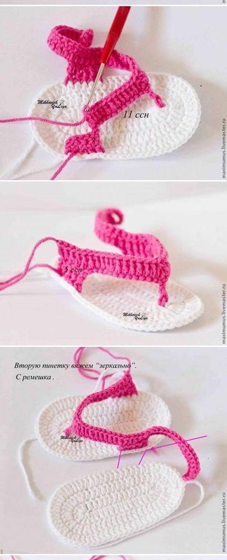 Eu Amo Artesanato: Sapatinhos e sandalinhas em crochê