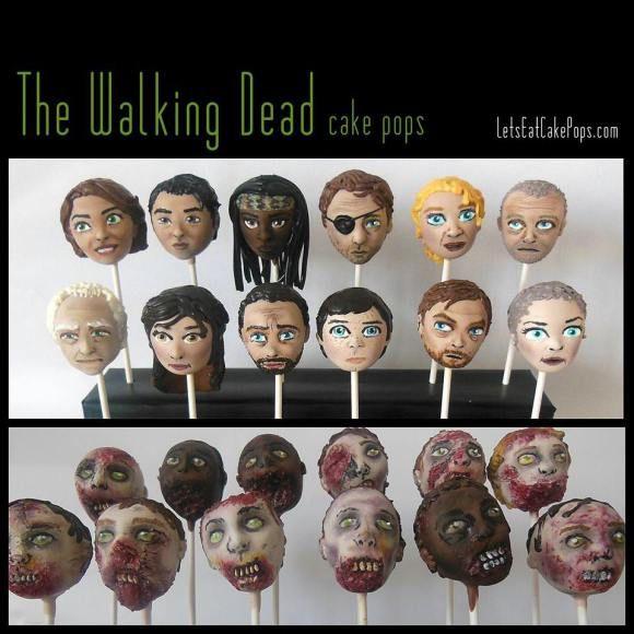 The Walking Dead cake pops!
