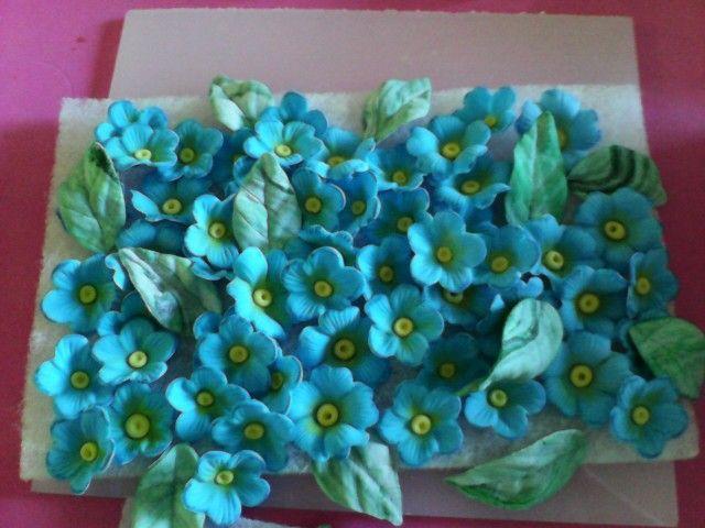Flores para una tarta
