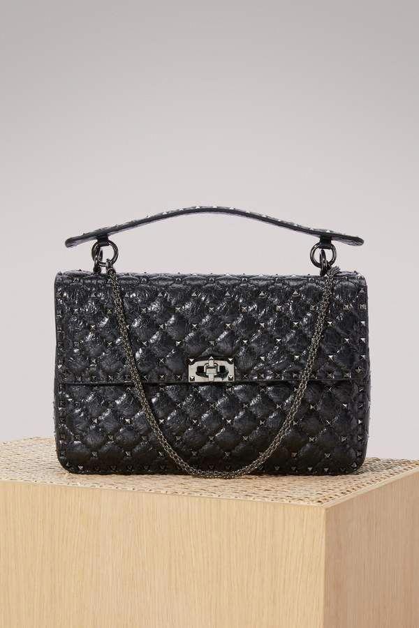 17739ad489dc Valentino Large Rockstud Spike Shoulder Bag  Valentino