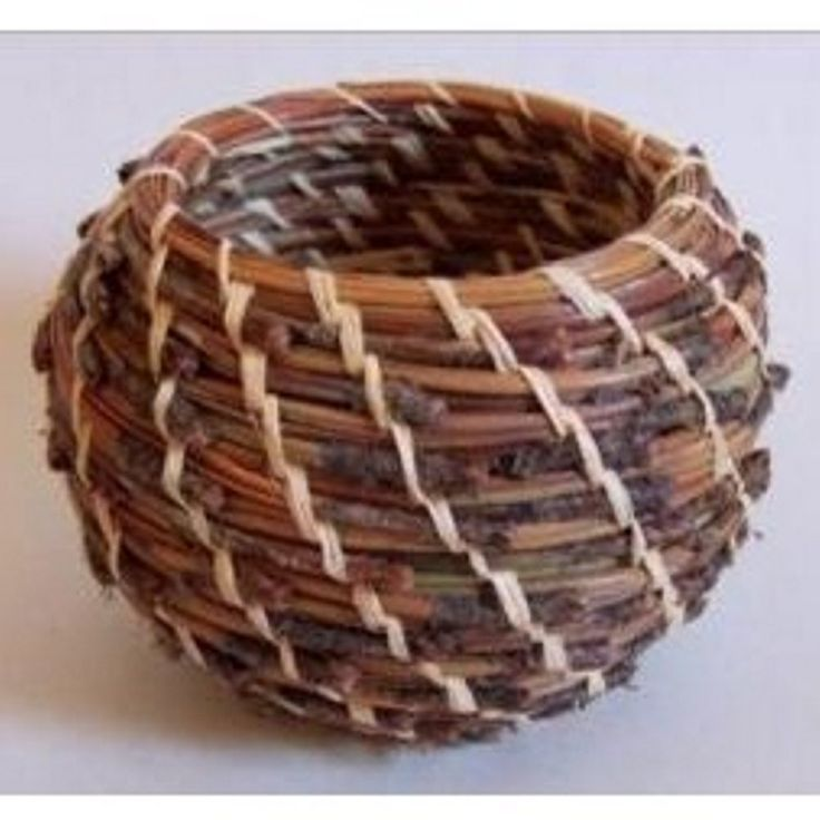 Quick Start Pine Needle Round Basket Weaving Kit (makes one 3 1/2in. Basket)