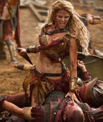 Ellen Hollman in 'Spartacus War of the Damned' TV review