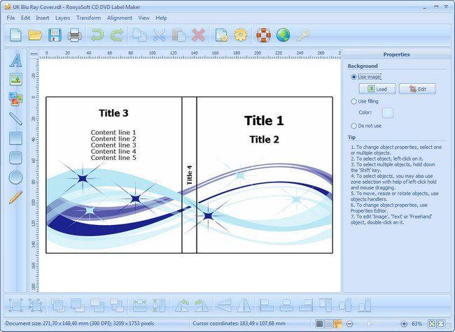 تحميل برنامج RonyaSoft CD DVD Label Maker 3.2.14 Multilingual