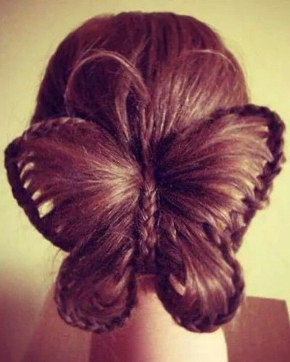 Butterfly hair! This is the coolest hairstyle!