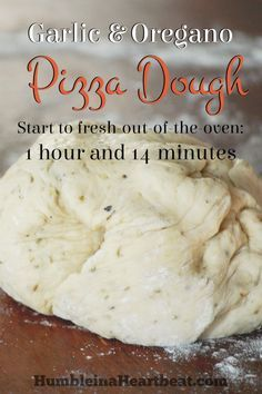 Garlic & Oregano Pizza Dough gives homemade pizza such a wonderful flavor, and it's so easy to make! After trying several different pizza doughs, this is my favorite by far, and it's fool-proof!