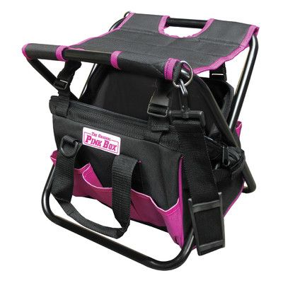 The Original Pink Box 15 Tool Bag With Rubber Base Wayfair