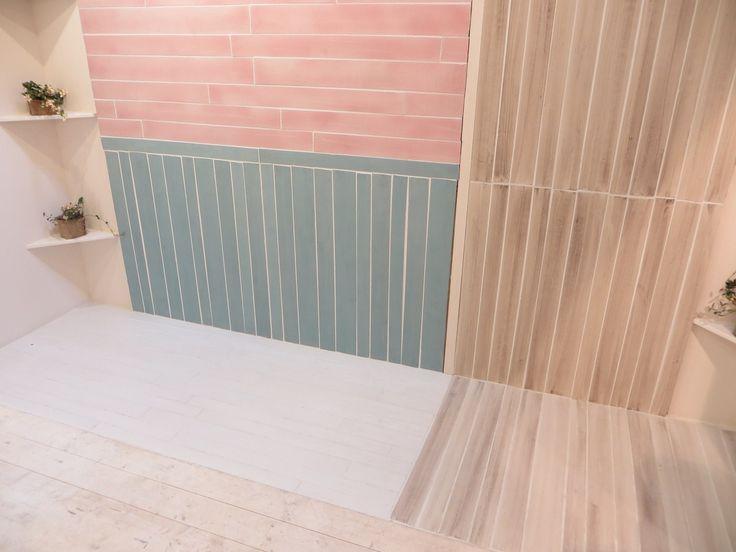 Slim planks in the pastel gamut (Struttura by Eco Ceramica)