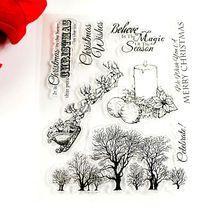 Bosque feliz Navidad vela sello claro Transparente Ecológico Sello De DIY Toma de Scrapbooking/Tarjeta/Suministros de Decoración(China (Mainland))