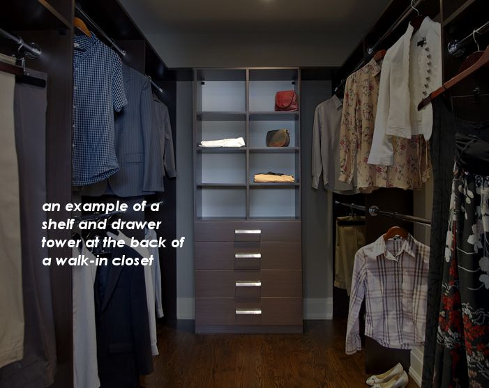 Closet Planning U2013 Know Your Terms And Needs: A Shelf And Drawer Tower