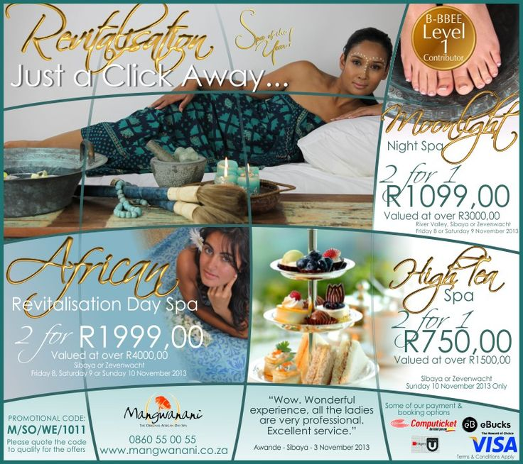 Revitalisation, just a click away - Mangwanani Special Offers for this Weekend