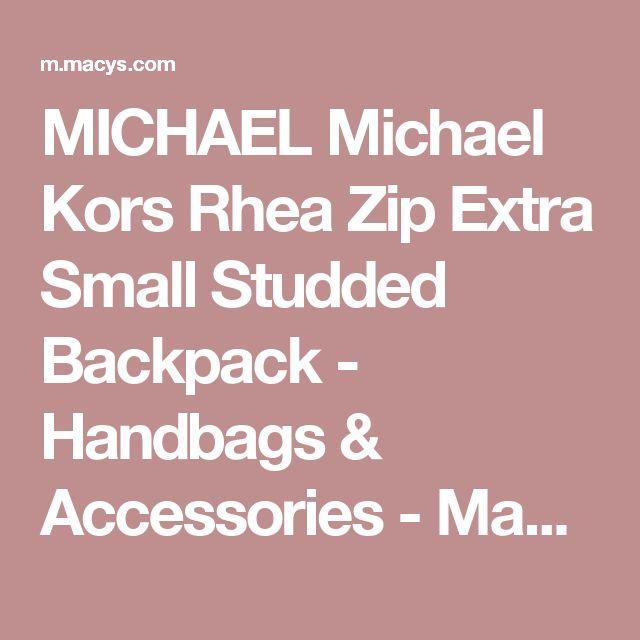 MICHAEL Michael Kors Rhea Zip Extra Small Studded Backpack - Handbags & Accessories - Macy's
