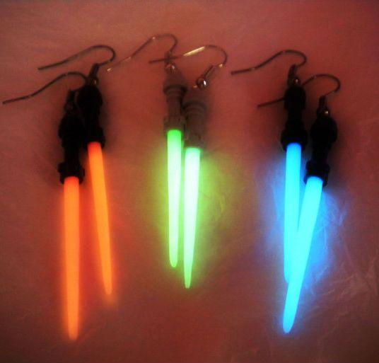 Lightsaber Earrings | Shut Up And Take My Money