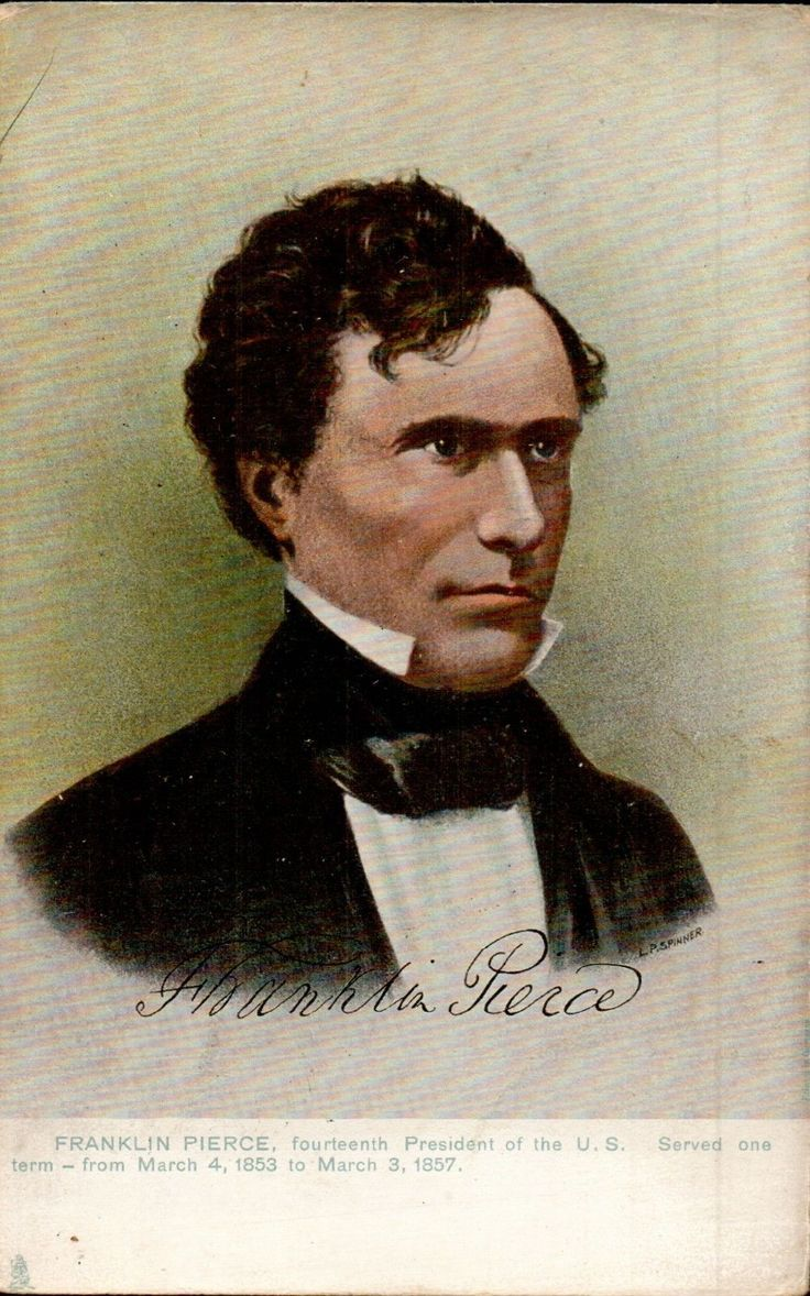franklin pierce the 14th president of He is franklin pierce, 14th president of the united states of america, serving  from march 4, 1853, until march 4, 1857 franklin was born on november 23,  1804,.
