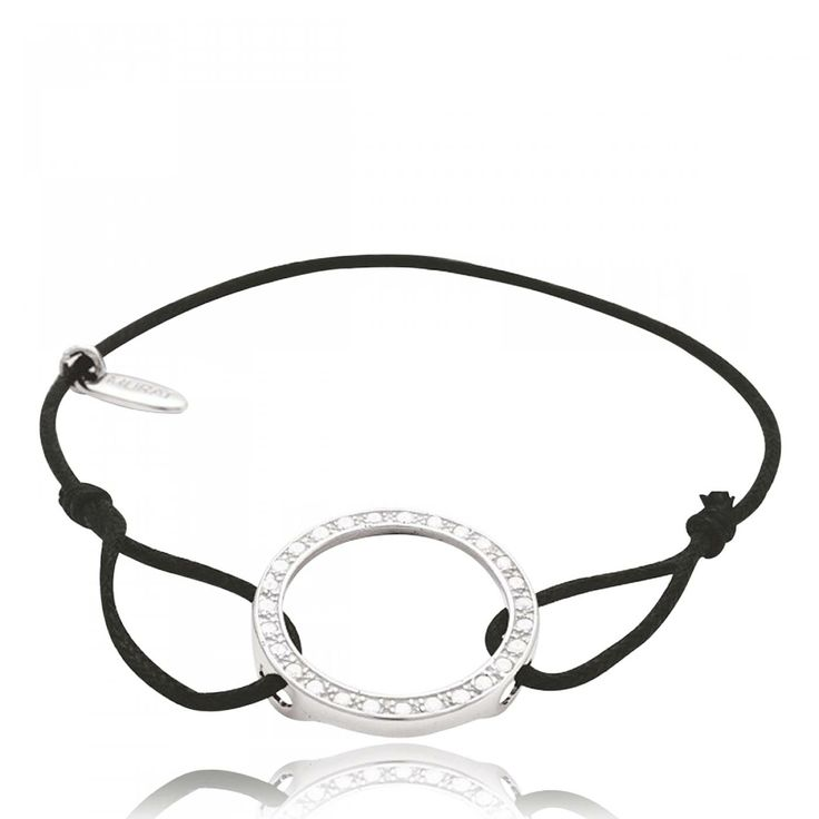 Ladies waxed cotton Héritage circular black cord - Murat Paris