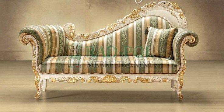 Szezlong 323/K - Szezlongi - Rad-Pol - Meble Stylowe, meble włoskie, klasyczne meble retro, sofy stylowe, narożniki